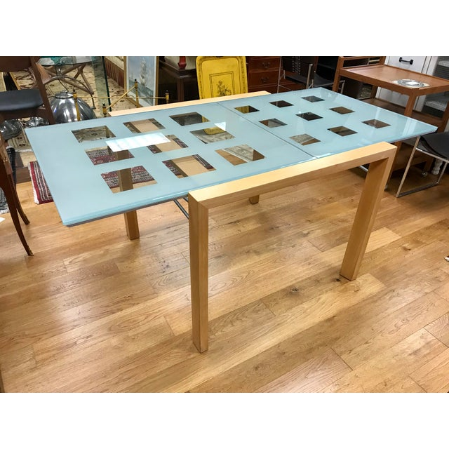Modern 1990s Modern Ligne Roset Expandable Extensia Glass Dining Table For Sale - Image 3 of 7