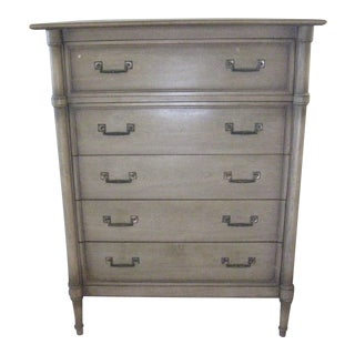 1950s British Colonial Drexel Bedroom Chest For Sale