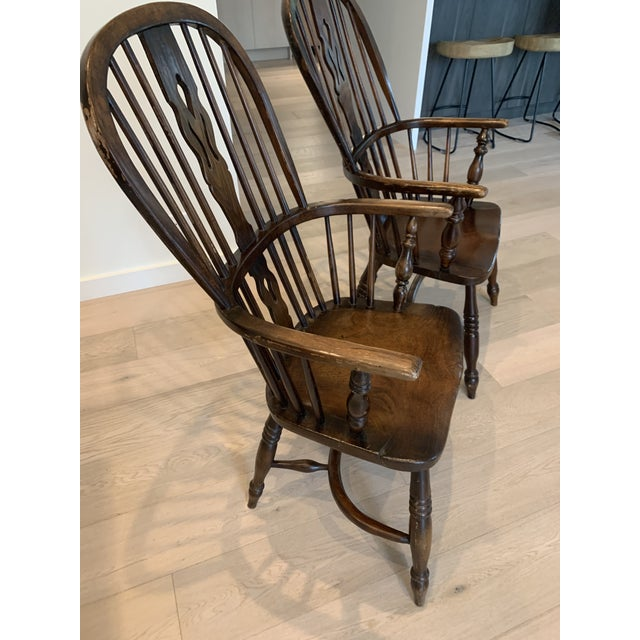 Late 19th Century Late 19th Century Windsor Chairs - A Pair For Sale - Image 5 of 9