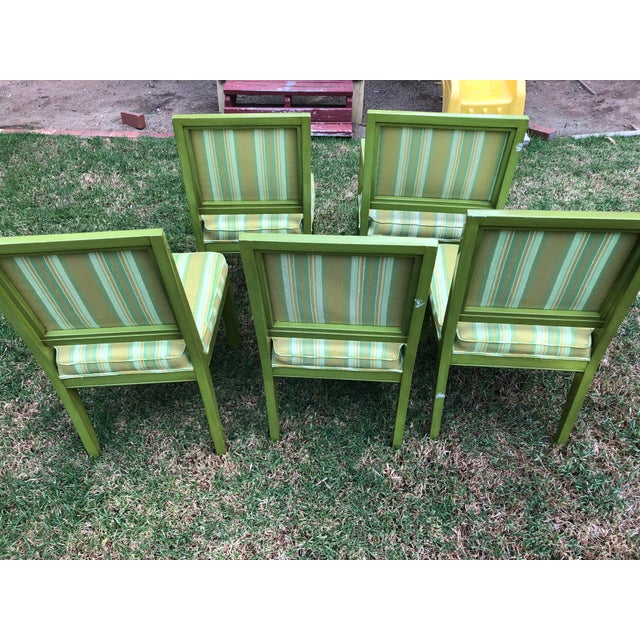 1970s 1970s Vintage Louis G Sherman Chairs - Set of 5 For Sale - Image 5 of 11