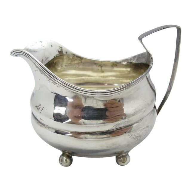 1808 George III Squared Sterling Silver Creamer Pitcher by George Turner For Sale