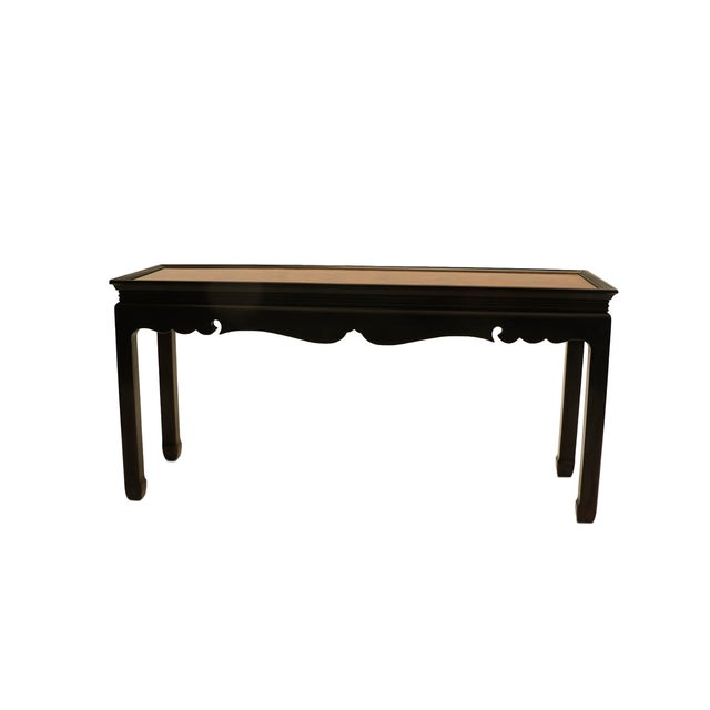 Asian Oriental Burlwood Console Table For Sale - Image 4 of 10