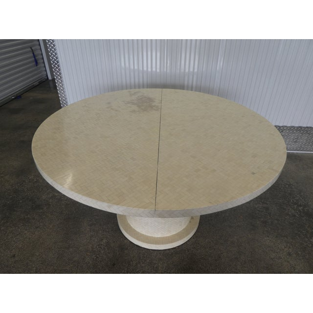 Modern Enrique Garcel Tessellated Bone Dining Table W 2 Leaves For Sale - Image 3 of 13