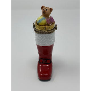 Hand Painted Limoges Santa Boot Box Preview