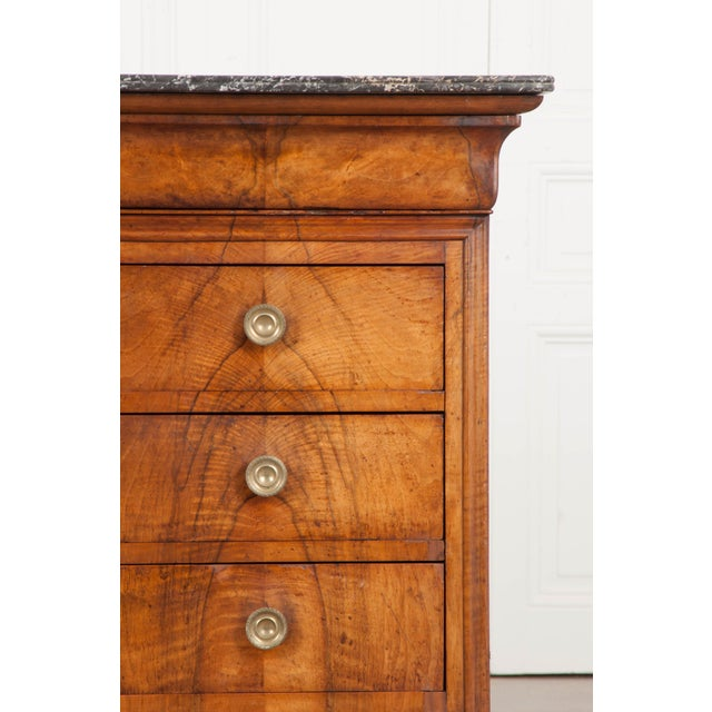 Metal French 19th Century Louis Philippe Walnut Commode For Sale - Image 7 of 12