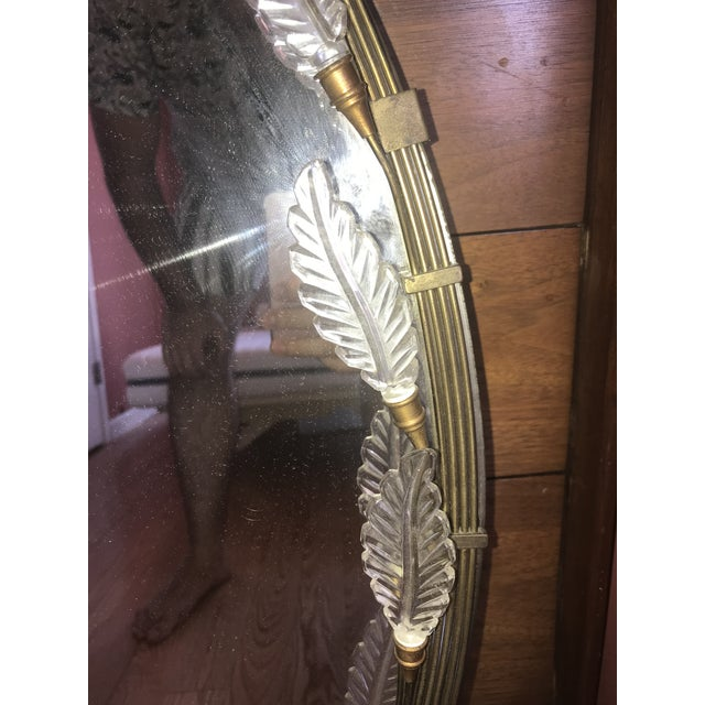 Gold 1960s Art Deco Grecodeco Glamour Mirror For Sale - Image 8 of 13