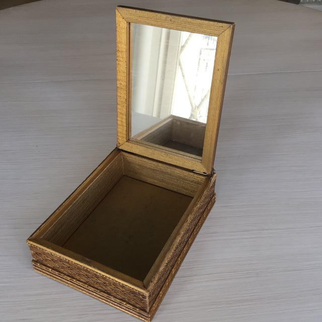 Antique Carved Wooden Jewelry Box - Image 7 of 11
