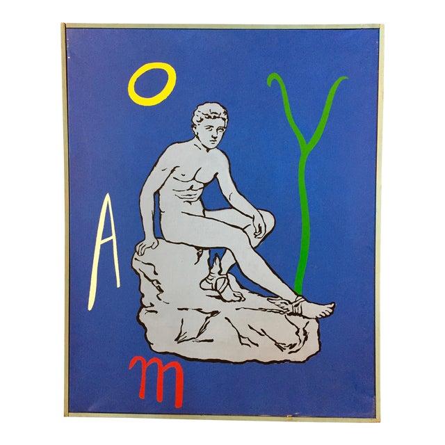 "Patrick Moya ""Mercure Bleu"" Acrylic, France For Sale"