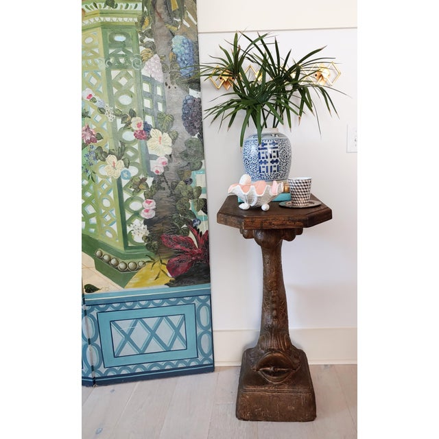1990s 1990s Hollywood Regency Bronze Koi Pedestal Table For Sale - Image 5 of 8