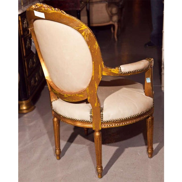 Animal Skin Maison Jansen French Louis XIV Armchairs - A Pair For Sale - Image 7 of 11