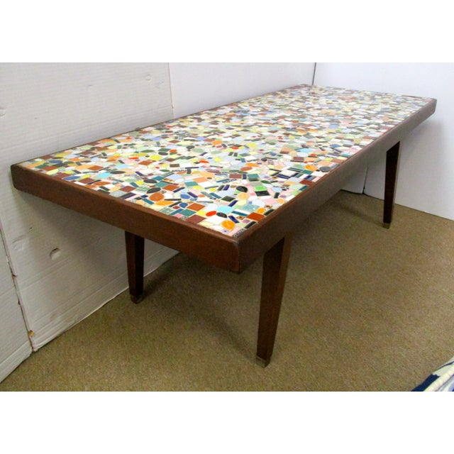 1960's Mosaic Tile Top Coffee Table - Image 3 of 6