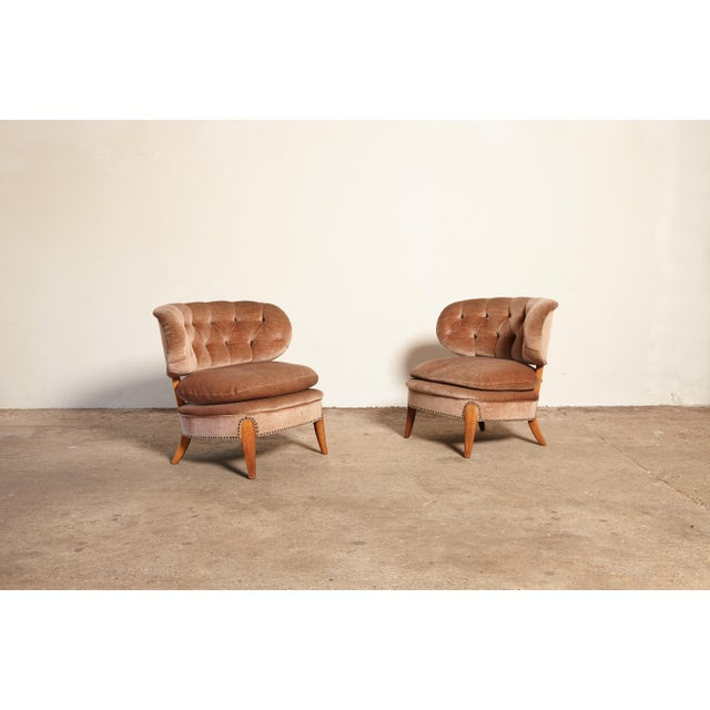 Pair of Otto Schulz 'Schultz' Easy Chairs, Sweden, 1940s-1950s For Sale - Image 11 of 11