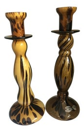 Image of Amber Candle Holders