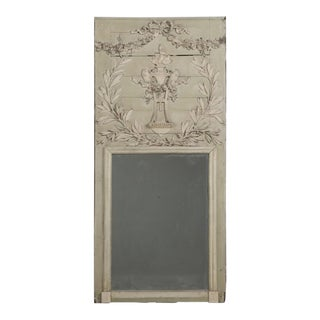Antique French Painted Mirror Original Condition For Sale