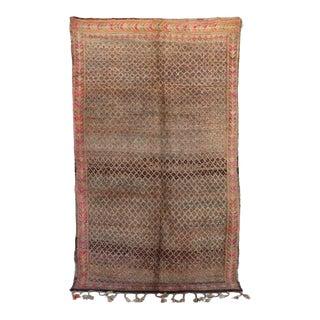 """Beni M'Guild Vintage Moroccan Rug, 6'6"""" X 10'10"""" For Sale"""