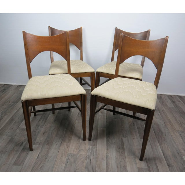 Mid-Century Modern Mid-Century Modern Walnut Bowtie Dining Chairs by Lenoir - Set of 4 For Sale - Image 3 of 13