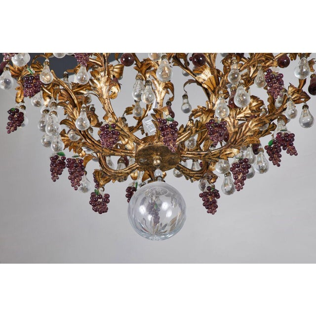 Metal An Elaborate French 1930s Vinegrapes & Drops Chandelier For Sale - Image 7 of 9