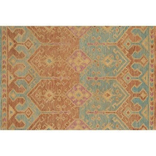 """Justina Blakeney X Loloi Rugs Gemology Rug, Spice / Teal - 2'6""""x7'6"""" For Sale"""
