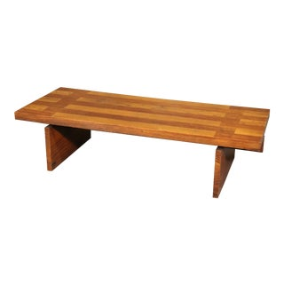 Mid Century Modern Solid Oak Coffee Table by Lane C1950 For Sale