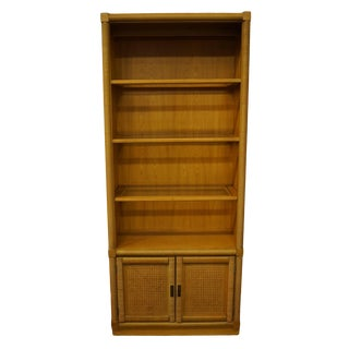 Dixie Furniture Wicker Weve Collection Lighted Bookshelf For Sale