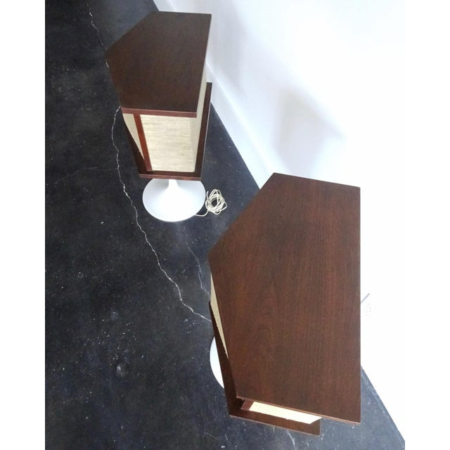 Wood 1970s Vintage Bose Speakers on Pedestal Tulip Bases - a Pair For Sale - Image 7 of 12
