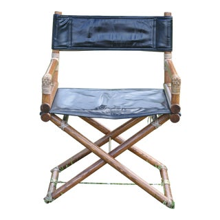 """1950's Vintage McGuire Folding """"Director's Chair"""" For Sale"""