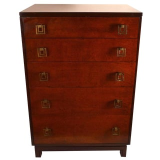 Pair of Renzo Rutili for John Stuart Five-Drawer Chests For Sale