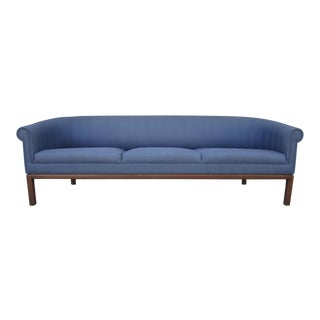 Vintage Mid-Century Curved Wood Sofa