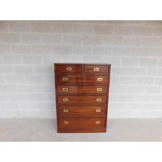 Ethan Allen Campaign Style Cherry Tall Chest 27-5004 Preview