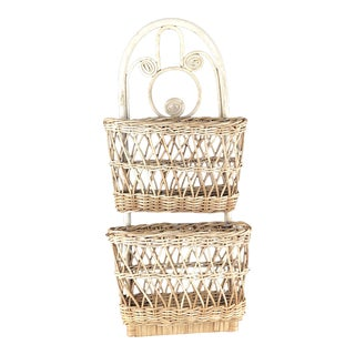 Rattan Wall Hanging Basket For Sale