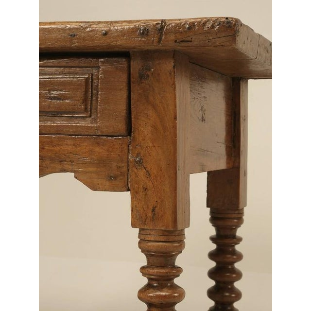 Brown Antique Spanish Walnut End or Side Table For Sale - Image 8 of 10