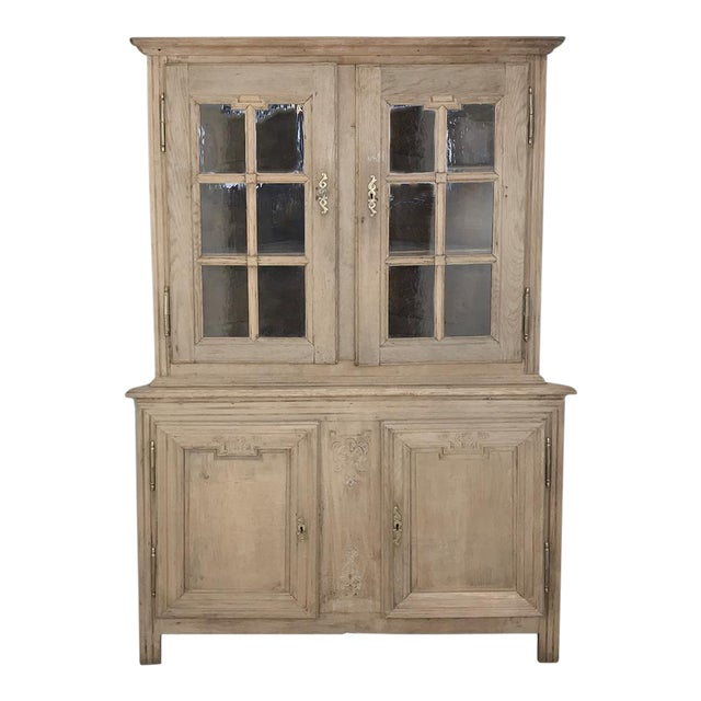 Grand 19th Century Country French Louis XVI Corner Cabinet For Sale