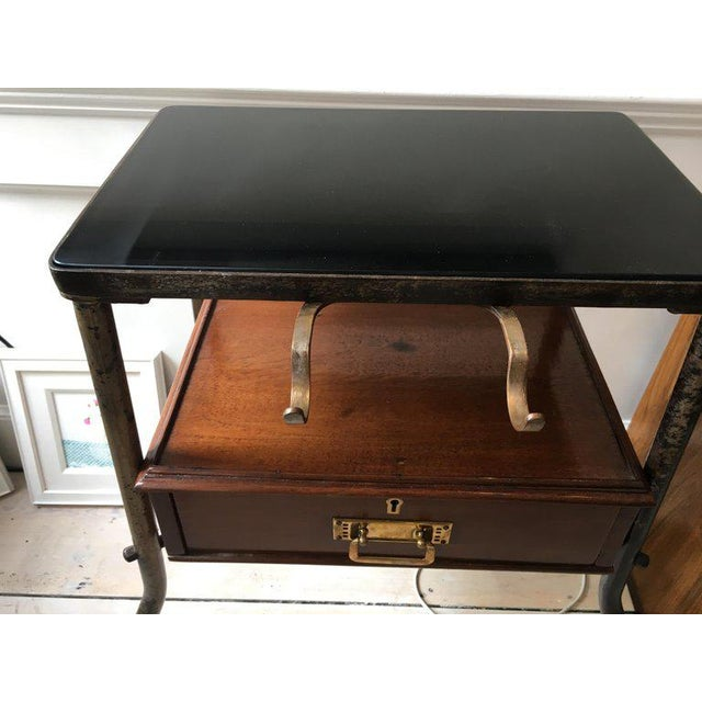 Ship's Teak and Smoked Glass Medical Trolley, Mid-1900s For Sale - Image 4 of 10