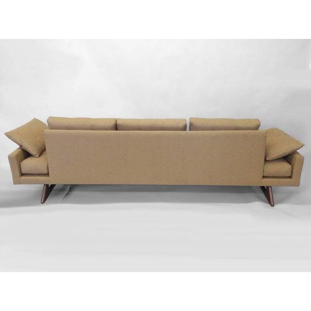 Americana Adrian Pearsall Craft Associates Large Gondola Sofa For Sale - Image 3 of 6