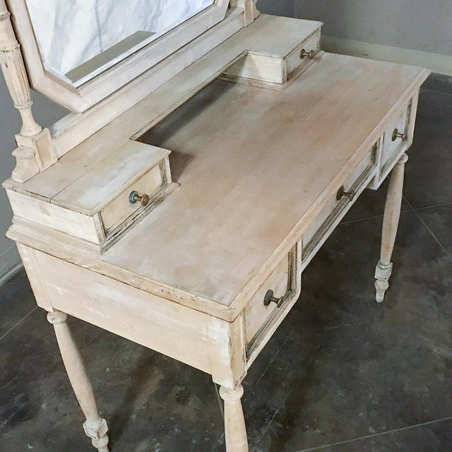 19th Century French Louis XVI Painted Vanity For Sale - Image 11 of 13