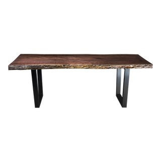Burled Redwood Live Edge Dining Table
