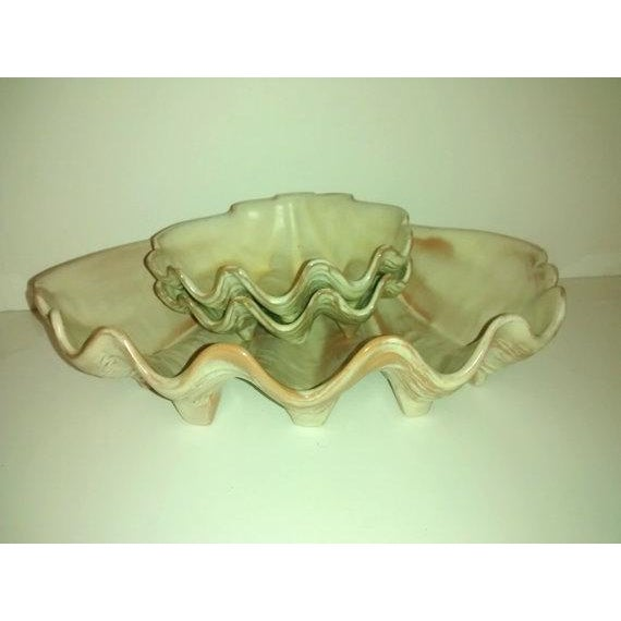Frankoma Pottery collectors know about the Club Trade Winds Line. This is a T10 Shell Tray or Dish. It measures 13.5...