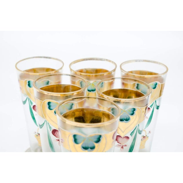 Early 20th C. Victorian Lemonade/Juice Glasses - Set of 7 For Sale - Image 9 of 13