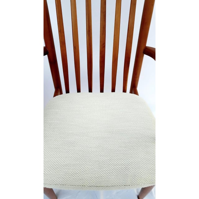 Textile 1960s Danish Modern Benny Linden Walnut Arm Chairs - a Pair For Sale - Image 7 of 11