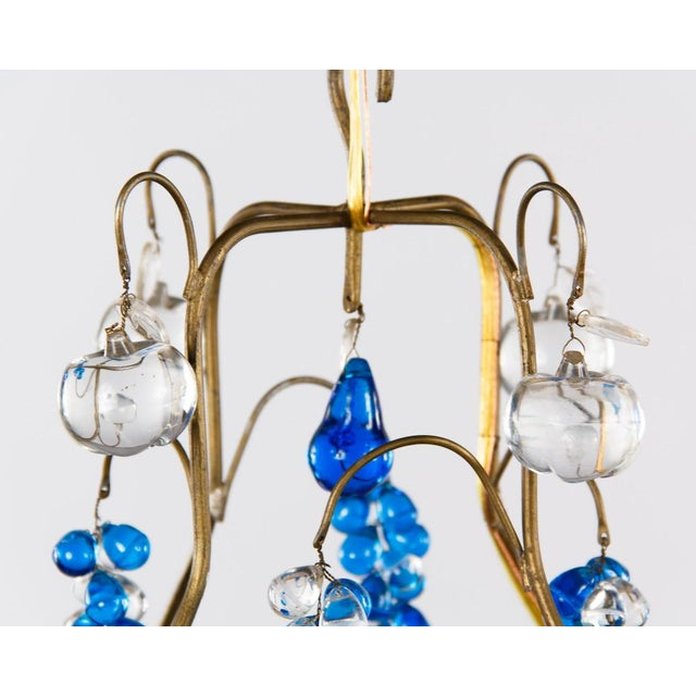 Vintage Blue Murano Chandelier For Sale In Austin - Image 6 of 10