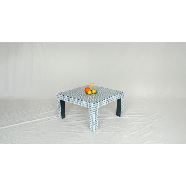 Mid-Century Modern Superstudio Coffe Tiled Table For Sale - Image 3 of 10