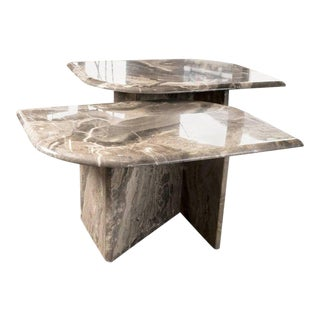 Pair of Mid-Century French Marble Tables