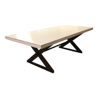 Contemporary Custom White Oak Farmhouse Dining Table For Sale