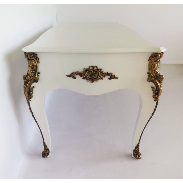 Louis XV Style Lacquered and Gilt Bronze-Mounted Bureau Plat For Sale - Image 10 of 11