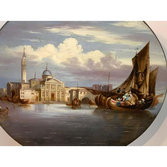 19th Century English Papier-Mâché Tilt-Top Table View of St Marks Square For Sale In Atlanta - Image 6 of 11