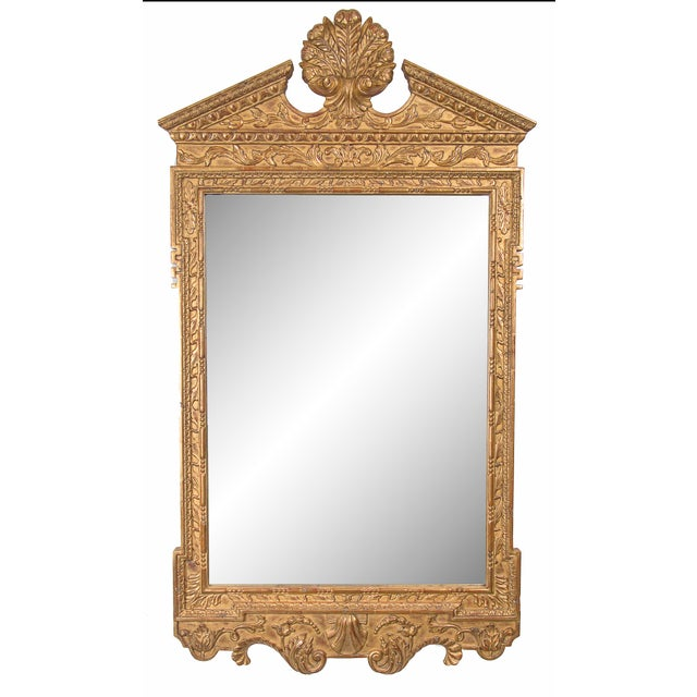 Late 20th Century Georgian Style Hand-Carved and Gilt Mirror For Sale In West Palm - Image 6 of 6