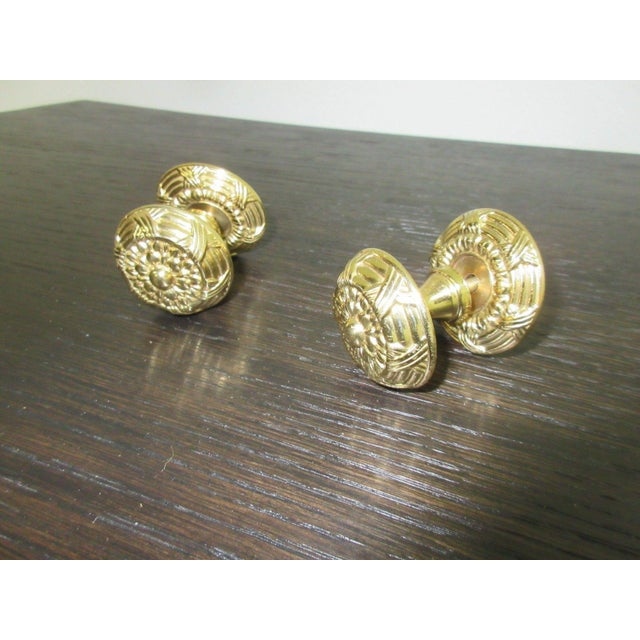 Traditional Vintage Solid Brass French Regency Drawer Pulls - A Pair For Sale - Image 3 of 4