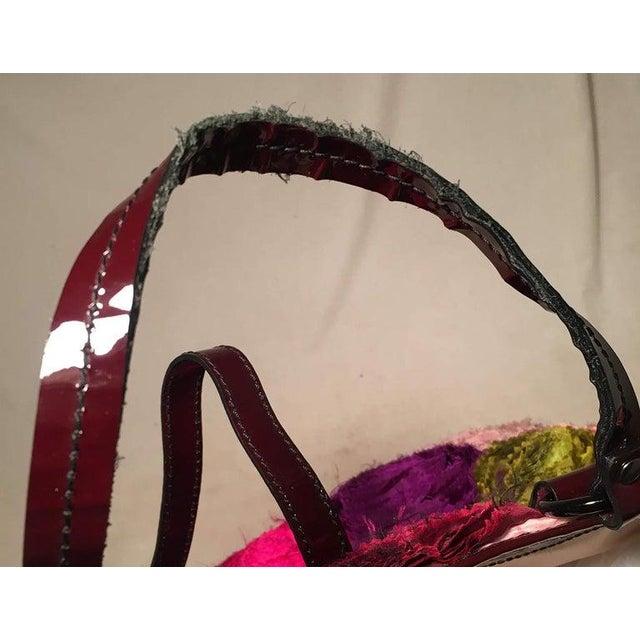 Metal Valentino Multicolor Silk Rosier Rosettes Tote Bag For Sale - Image 7 of 10