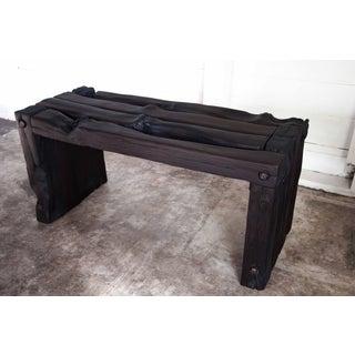 Organic Modern Wabi-Sabi Bench Reclaimed Yakisugi Wood Preview