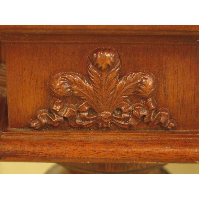 Wood EJ Victor Regency Burl Walnut Dining Room Table For Sale - Image 7 of 11